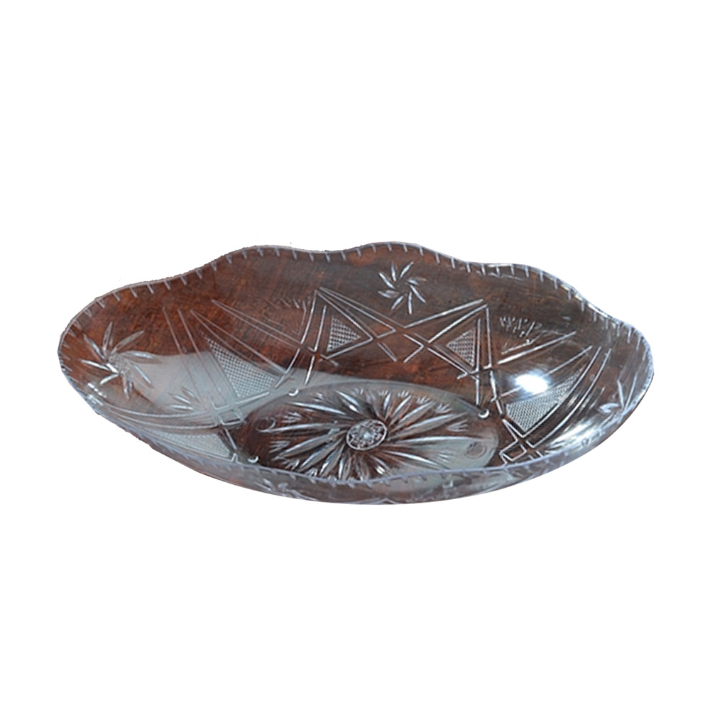 "Fineline Settings Clear 12""x6""x2.2"" Luau Bowl CC1201"