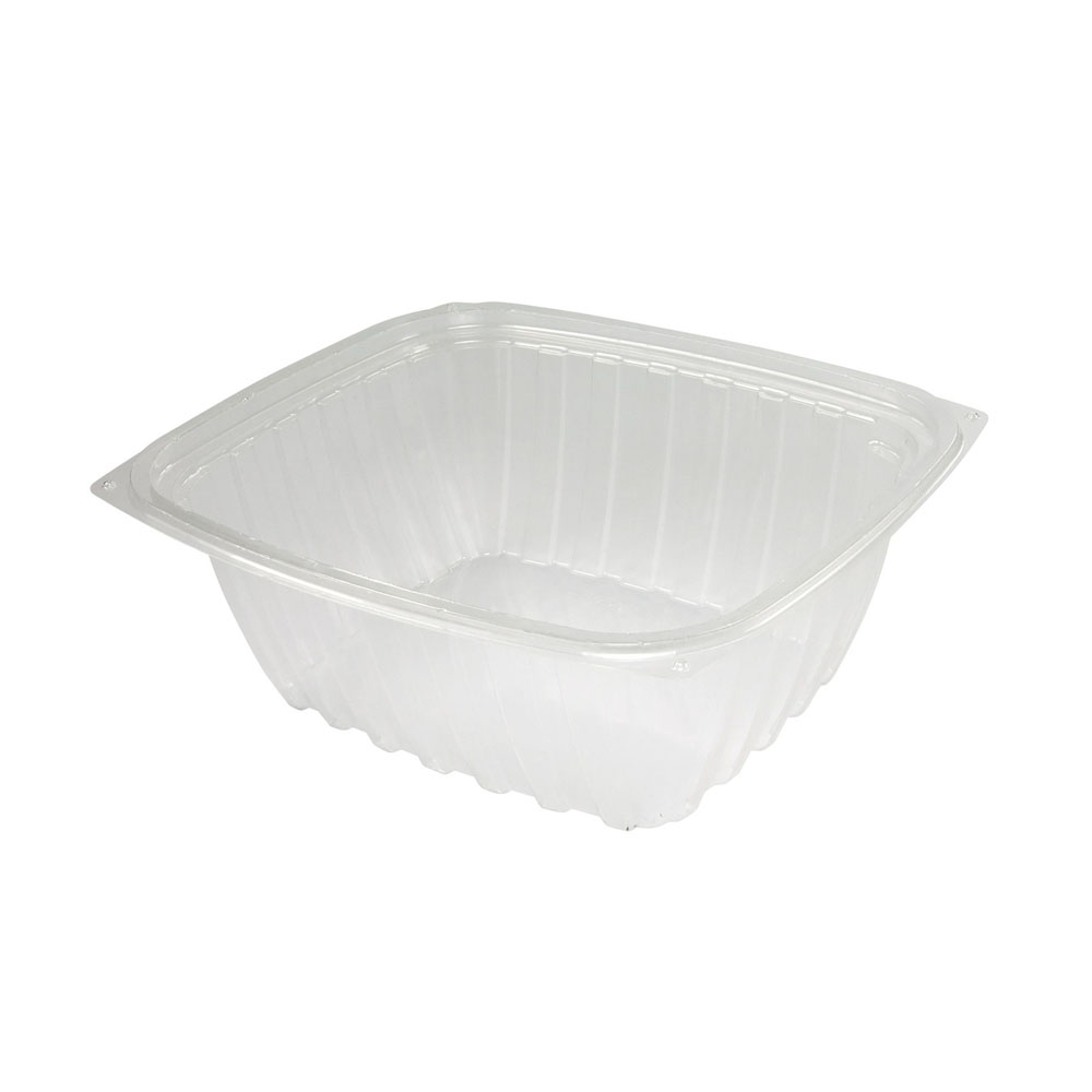 Dart - ClearPac Clear 32 oz. Rectangular Plastic Single Compartment Container C32DER