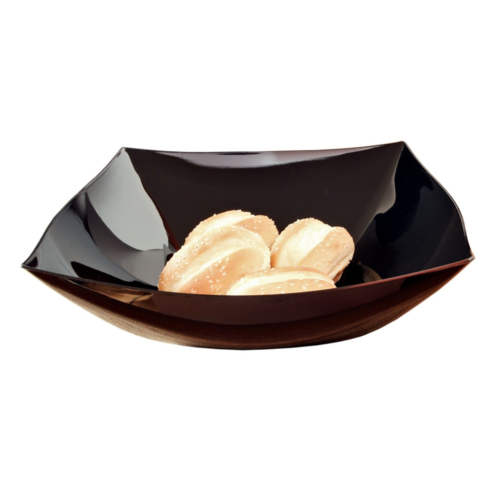 EMI Yoshi Inc. - Black 128 oz. Square Plastic Bowl EMI-SB128