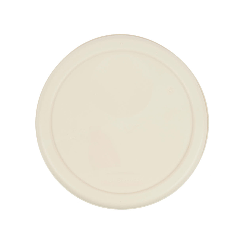 Rubbermaid Commercial - Beige 4 Qt Round Plastic Container Lid 1980258