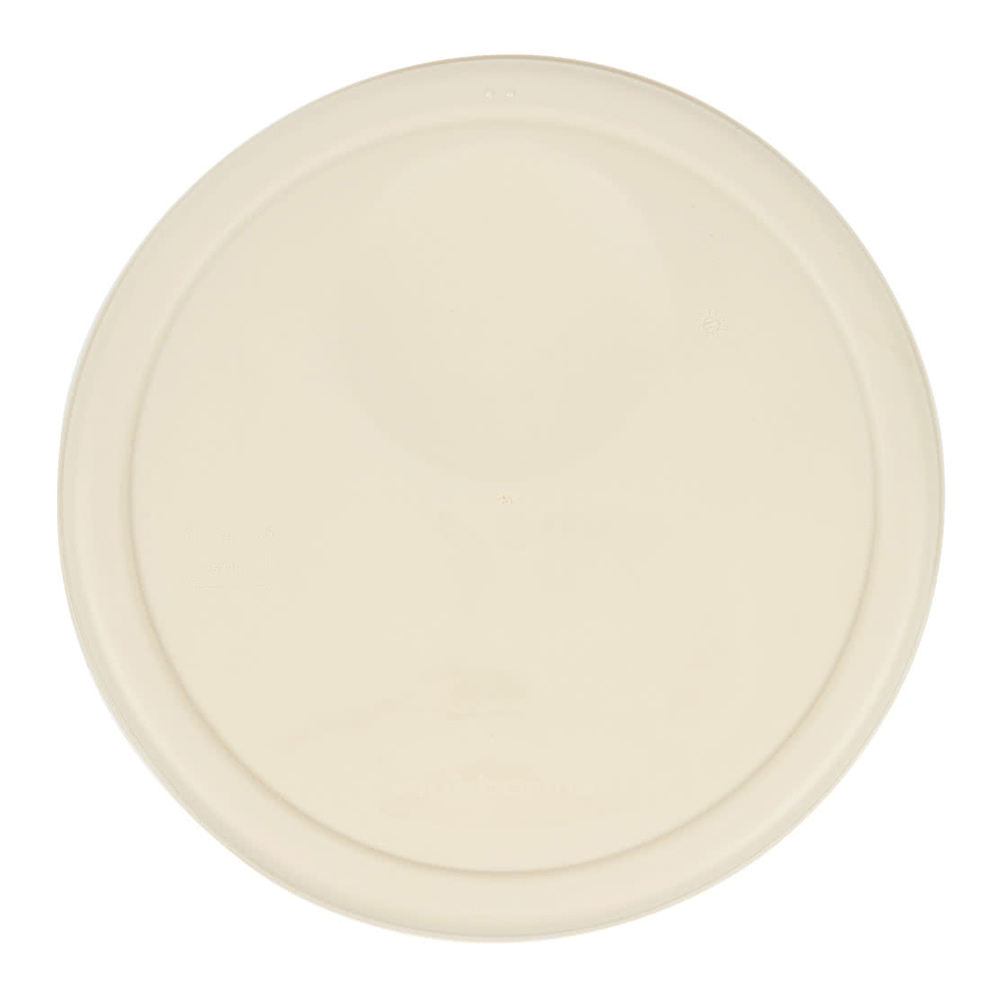 Rubbermaid Commercial - Beige 8 Qt Round Plastic Container Lid 1980385
