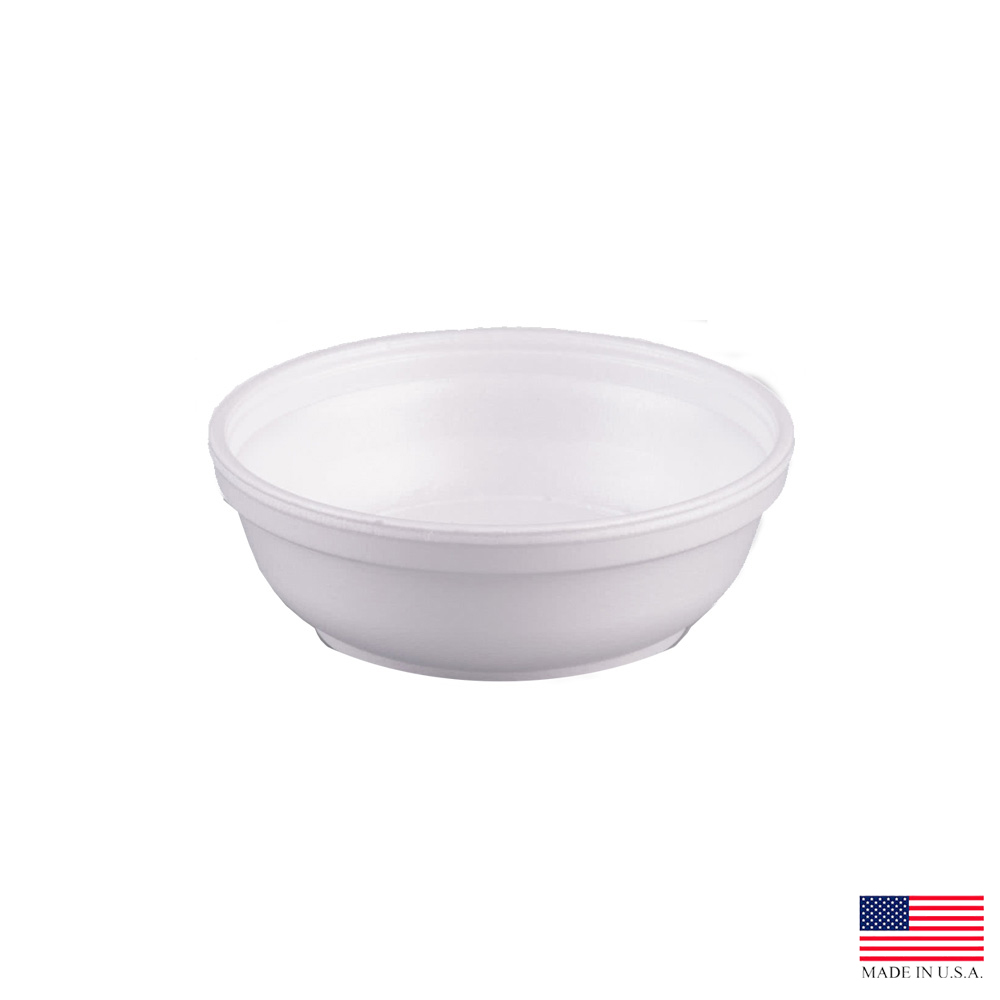 Dart White 6oz Insulated Foam Bowl 6B20