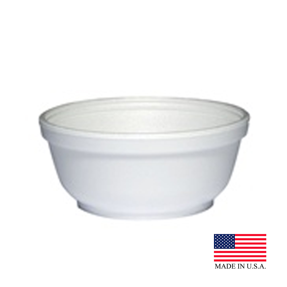 Dart White 8oz Foam Bowl 8B20