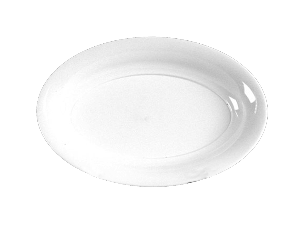 "Comet White 16""x11"" Oval Catering Tray AV1611WH"