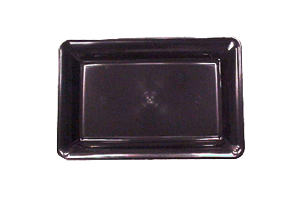 "Comet Black 18""x12"" Plastic Rectangular Catering Tray A1812BL"