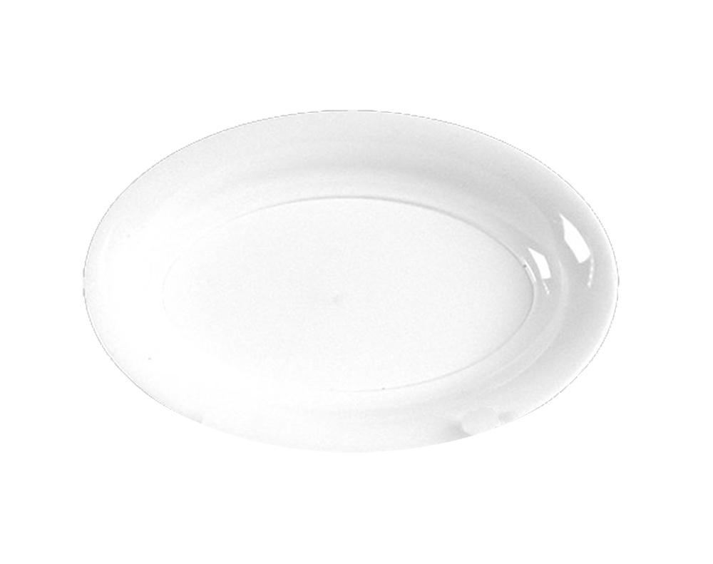 "Comet White 21""x14"" Oval Catering Tray AV2114WH"