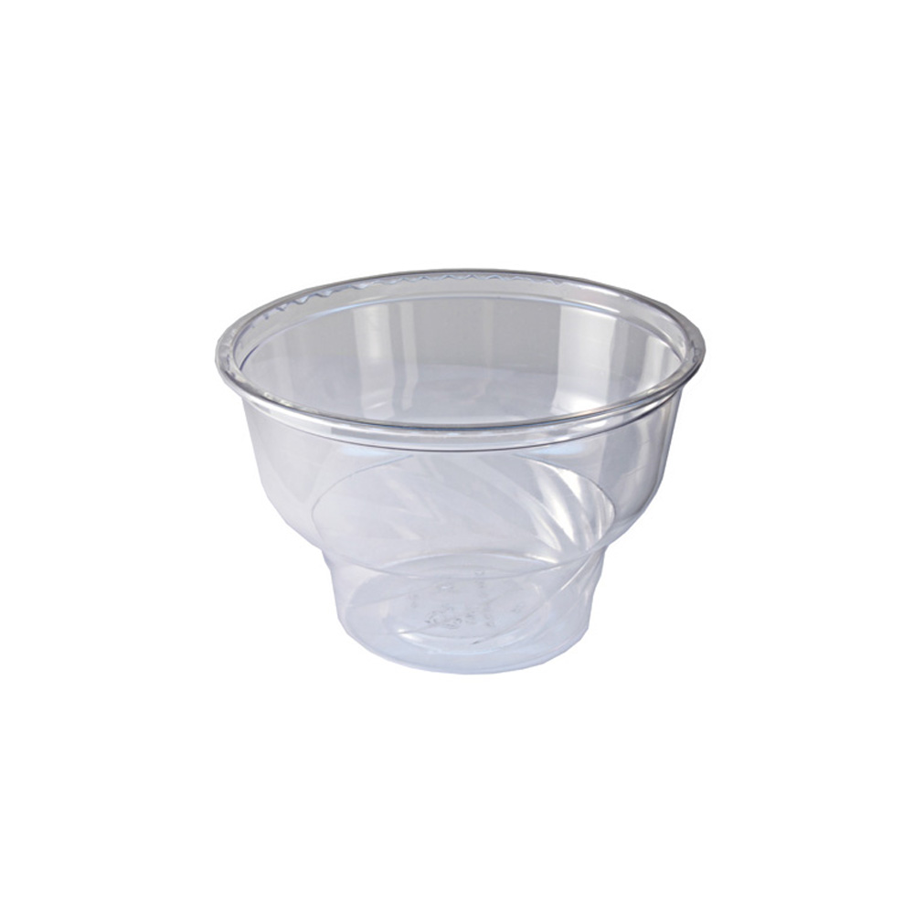 Fabrikal - Indulge Clear 8 oz. Round Plastic Dessert Container DE8/9506004
