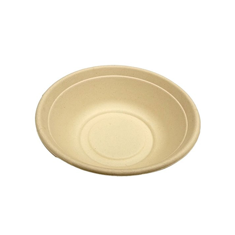 Sabert Beige 32oz Molded Fiber Round Bowl         49032D300N