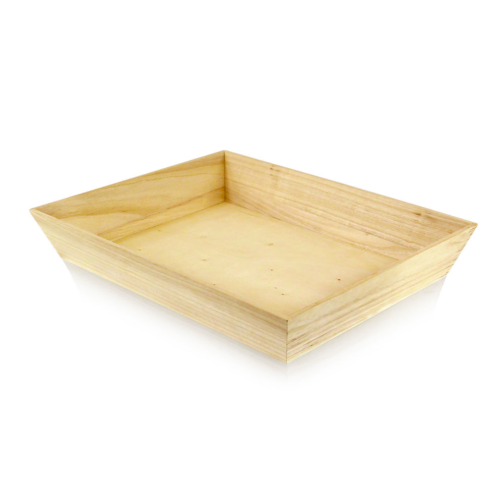 "Pacnwood - Wood 15""X11""x2.9"" Heavy Duty Rectangular Tray WOODTRAY40H"