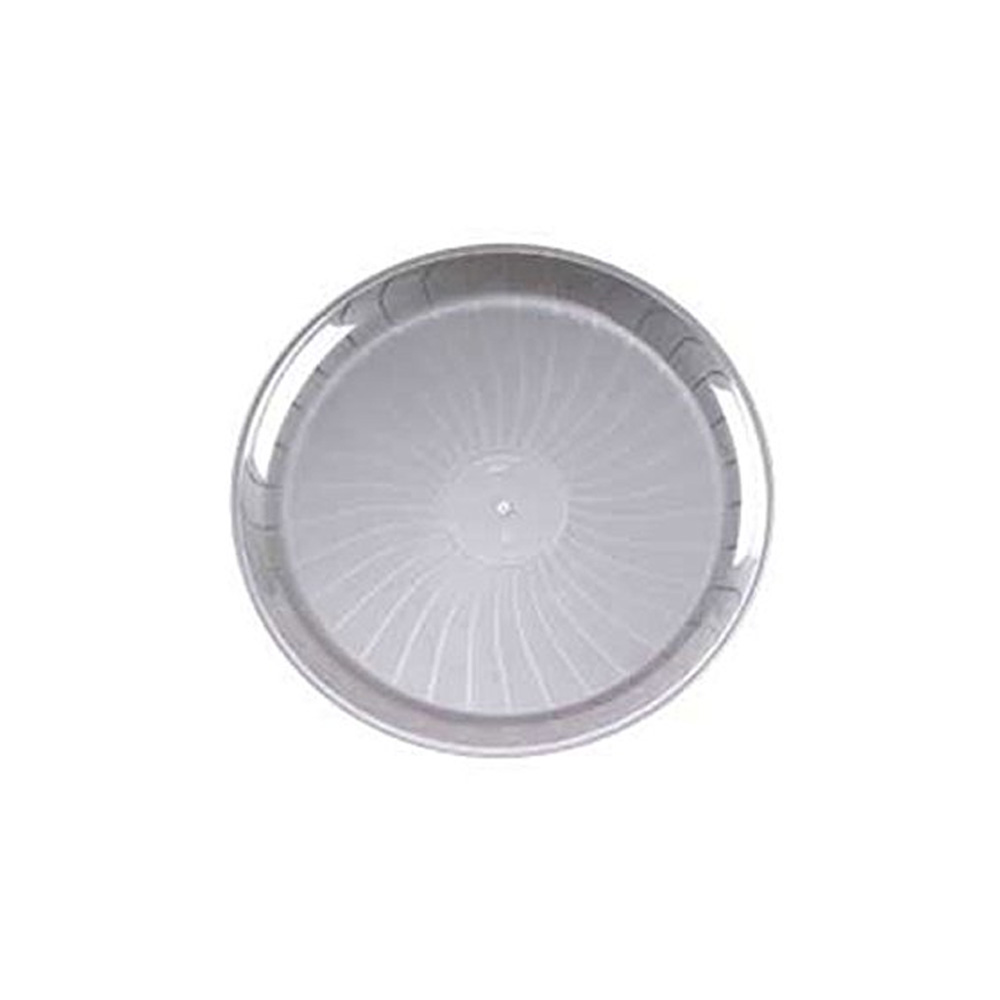 "EMI Yoshi Inc. - Clear 12"" Round Plastic Party Tray EMI-420C"