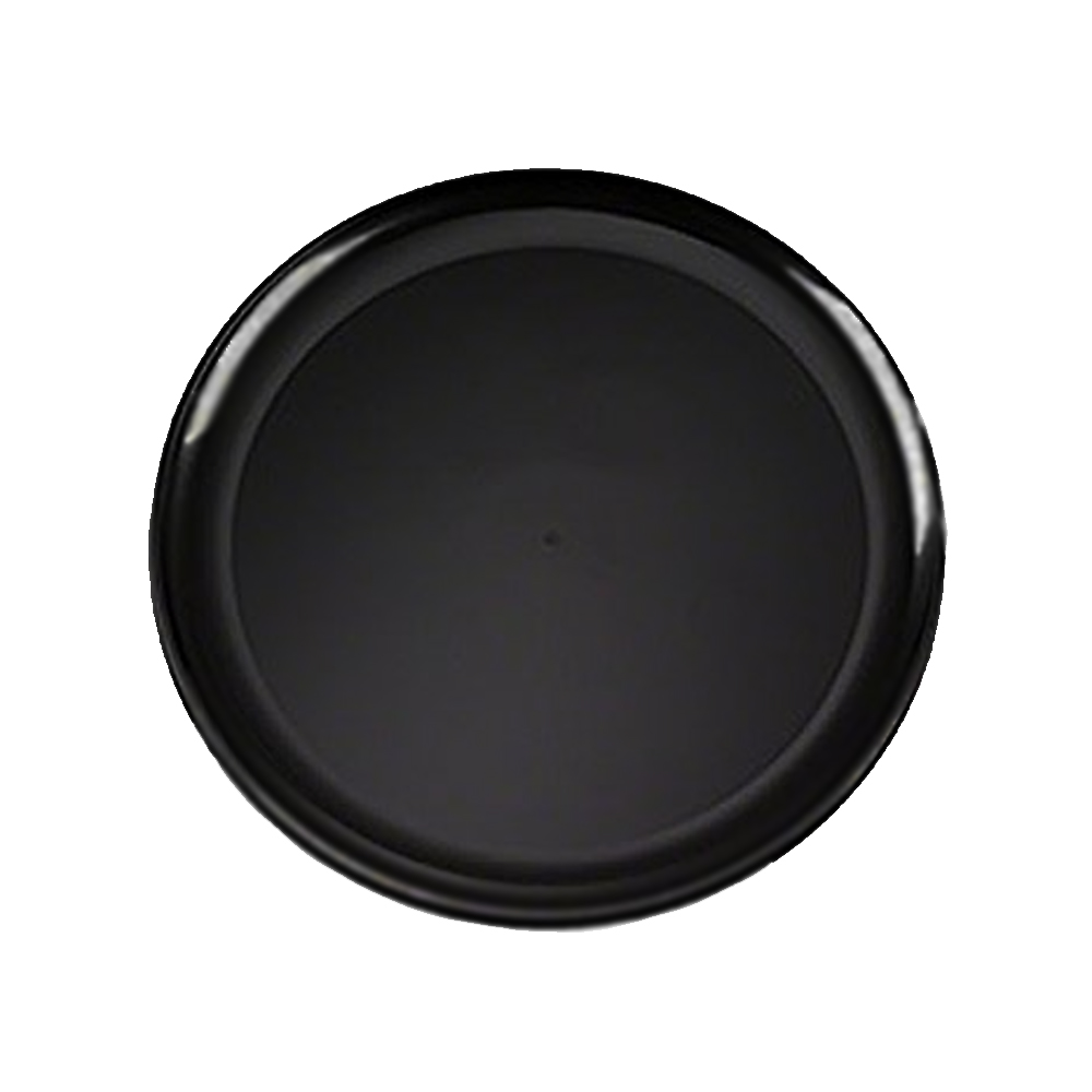 "EMI Yoshi Inc. - Black 12"" Round Plastic Serving Tray EMI-420B"
