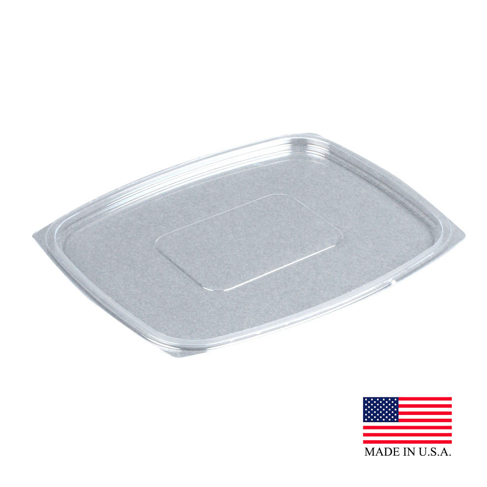 Dart - ClearPac Clear Rectangular Plastic Snap-on Lid C64DLR
