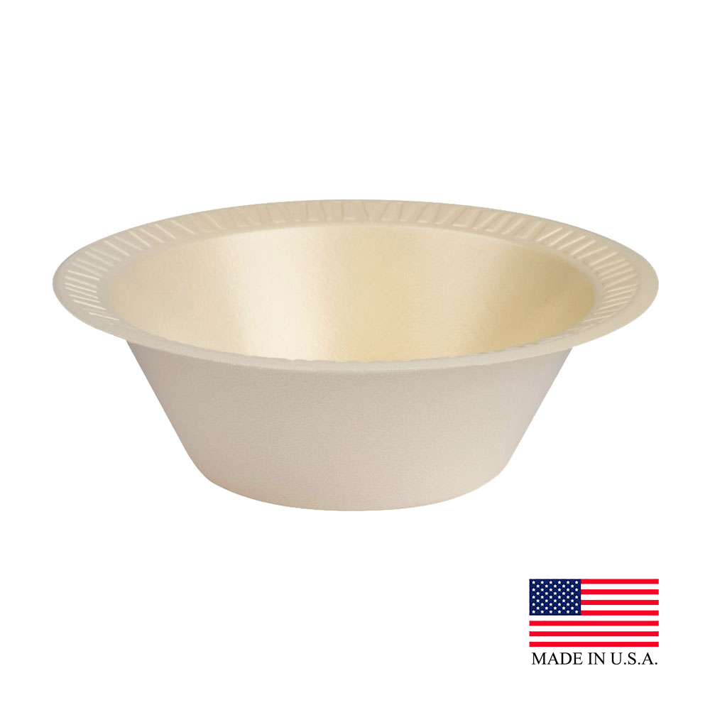 Dart Honey 10-12oz Quiet Classic Foam Laminated Bowl 12BWHQR