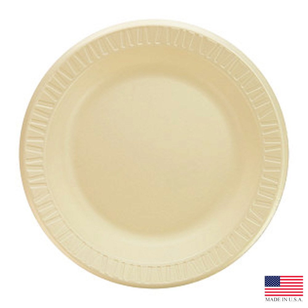 "Dart - Quiet Classic Honey 10.25"" Laminated Foam  Dinnerware Plate 10PRHQ"
