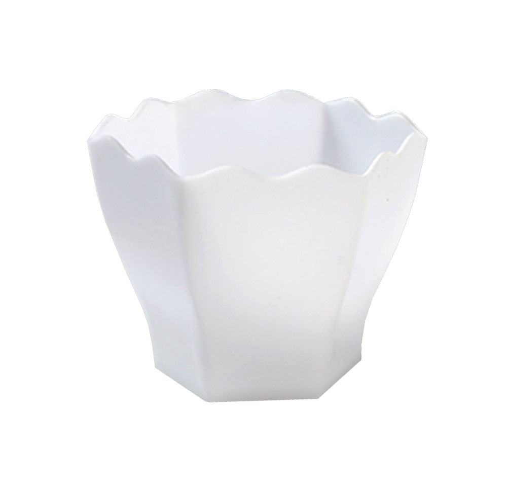 "Fineline Settings White 2.5"" Tiny Hexagon Cube Bowl 6304-WH"