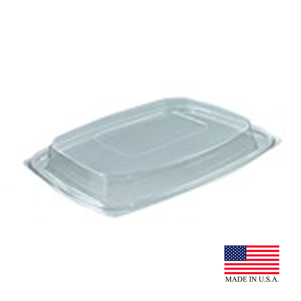 Dart - ClearPac Clear Rectangular Plastic Snap-on Dome Lid C64DDLR