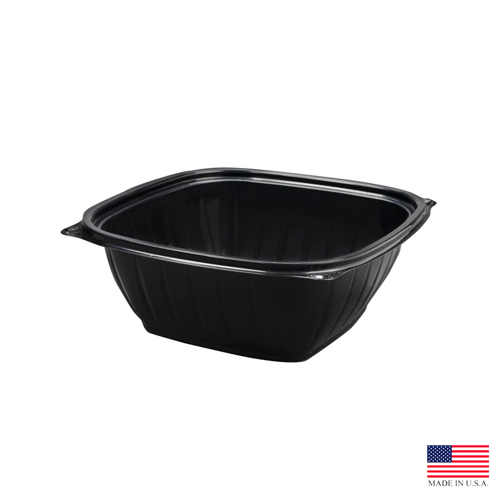 Dart - Black 64 oz. Plastic Square Bowl B64SB