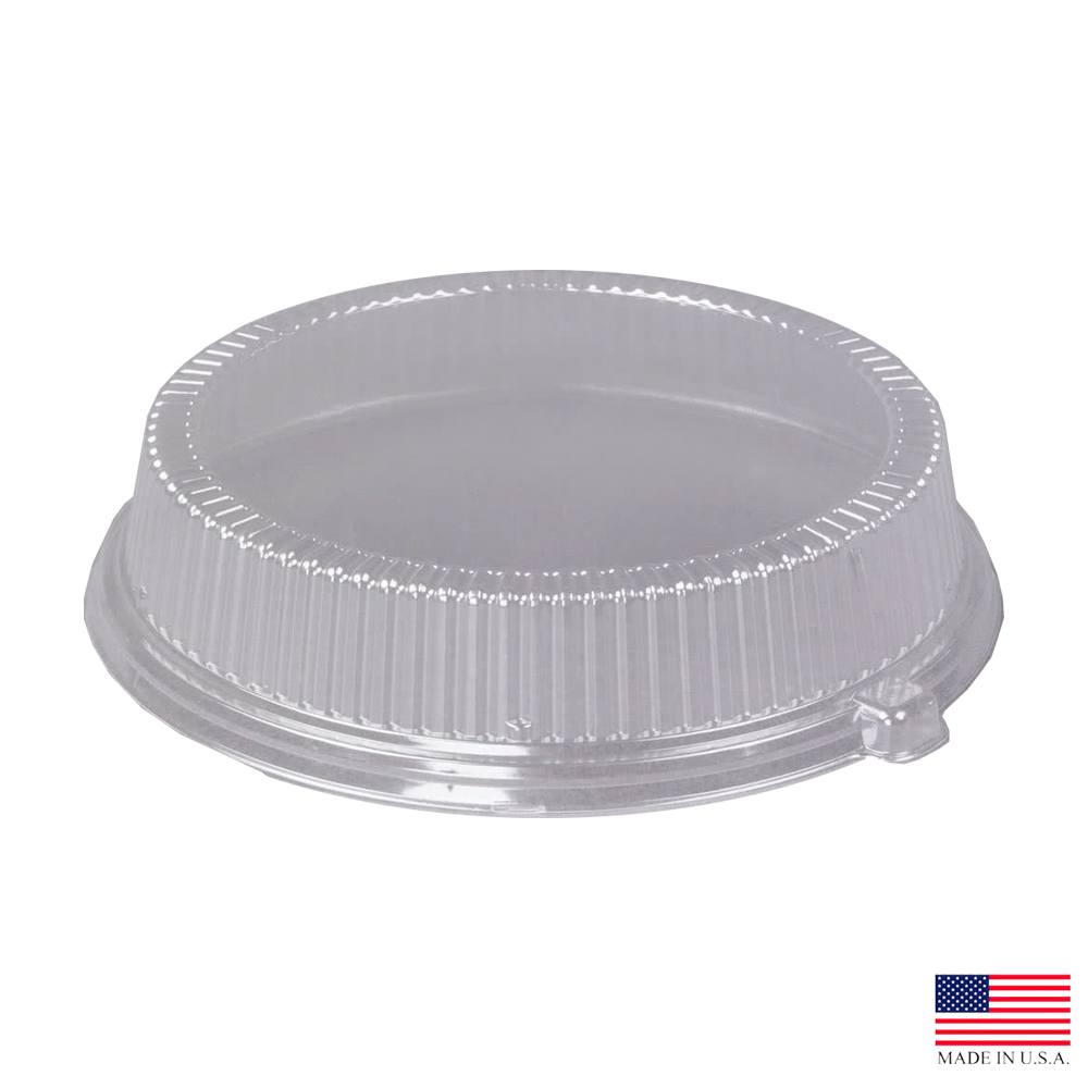"Dart - Clear 10"" Round Plastic Dome Lid For Plate CL10P"