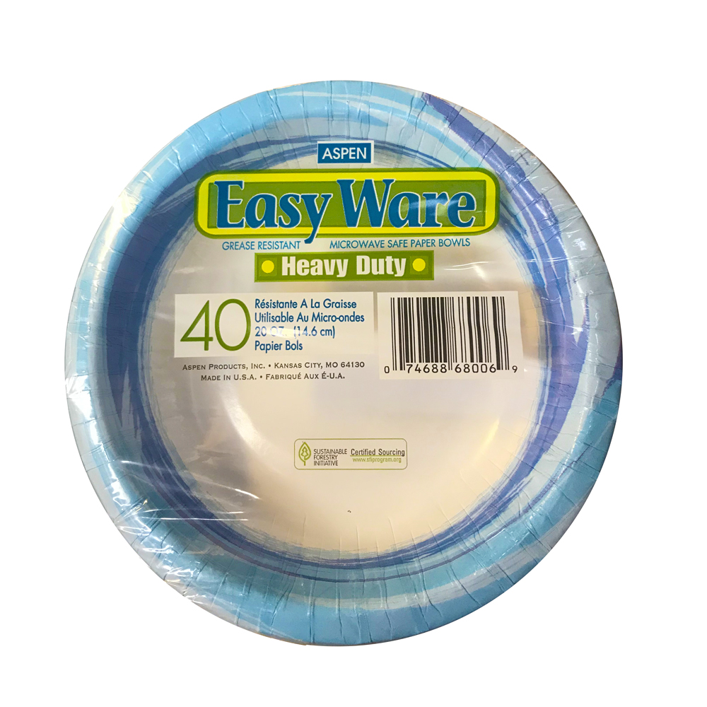 Aspen Products - Easyware Printed 20 oz. Coated Paper Bowl 68006