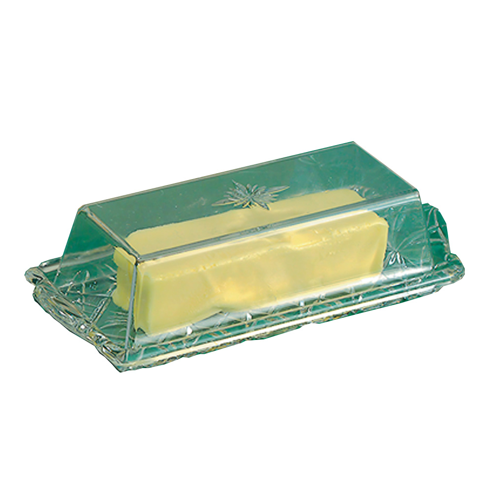 Novelty Crystal Clear Crystal Butter Dish 802