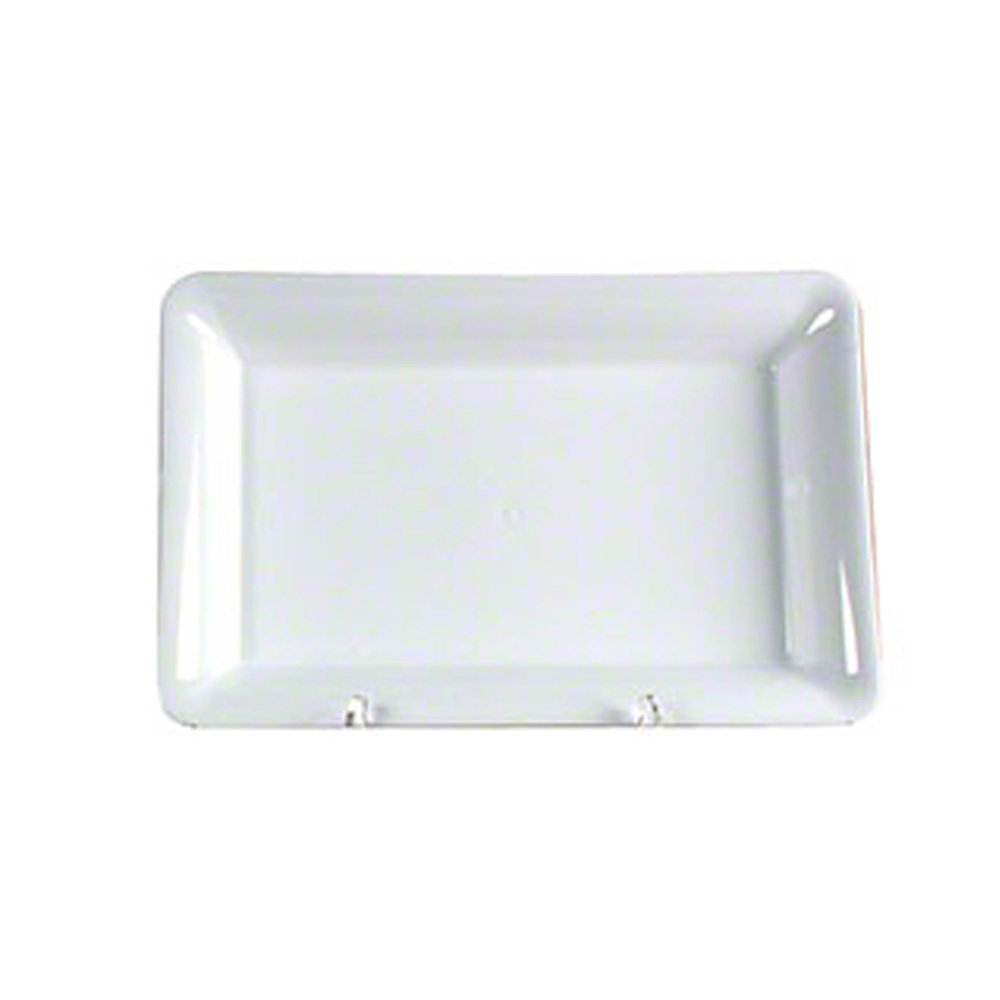 "Comet White 8""x10"" Rectangular Serving Tray A810WH"