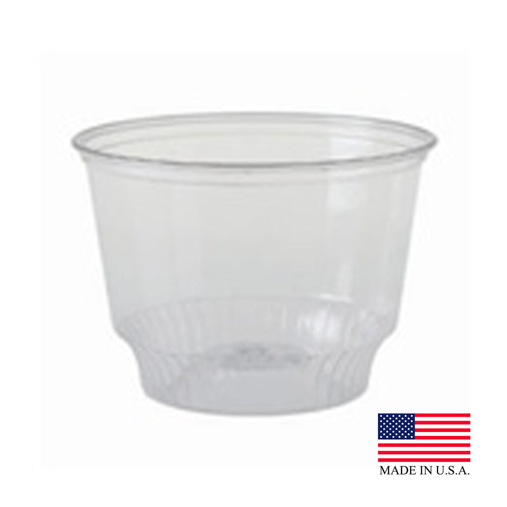 Solo Clear 8oz Solo Serve Plastic Sundae Cup SD8-0090