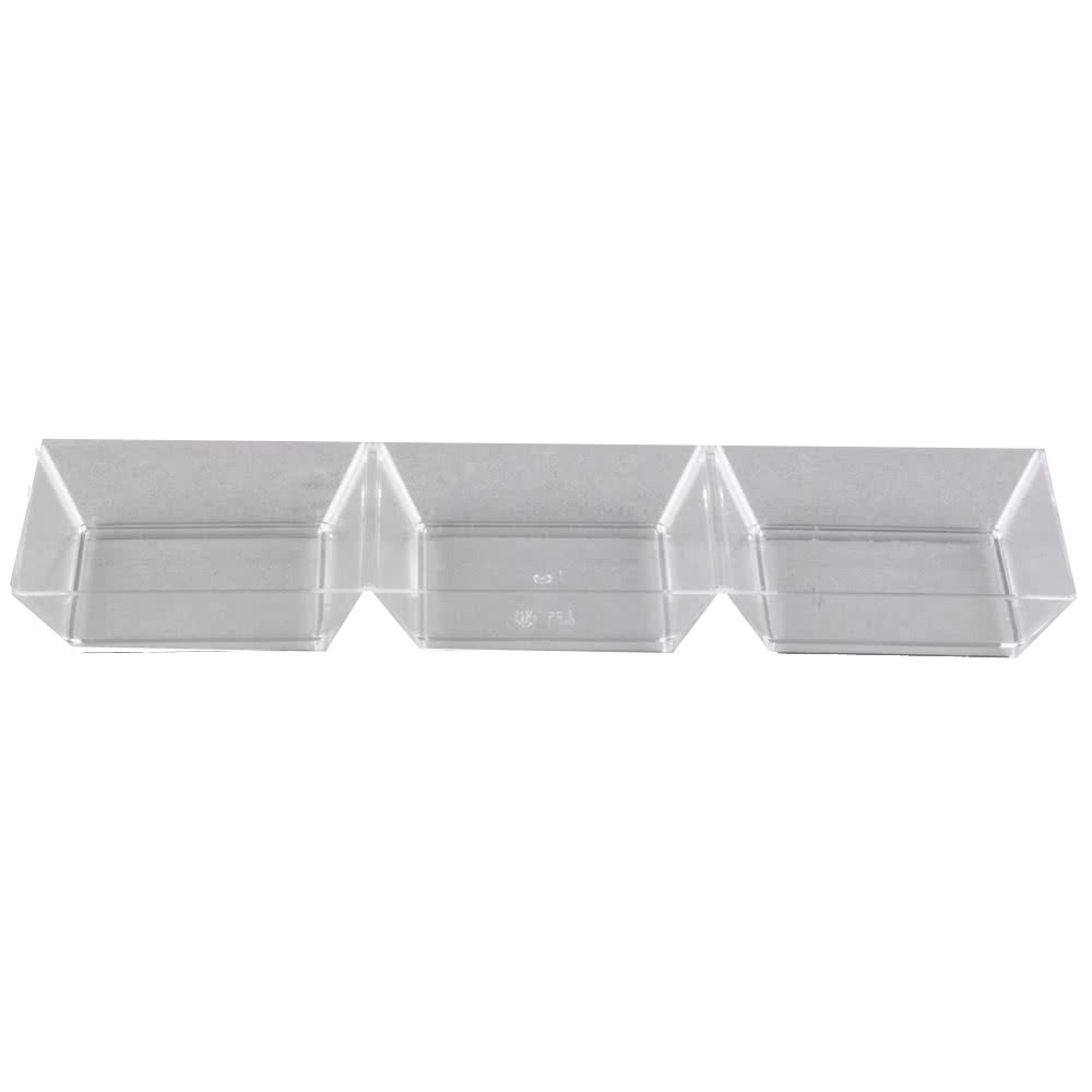 "Fineline Settings Clear 7.5"" Long Sectional       Rectangular Tray 6212-CL"