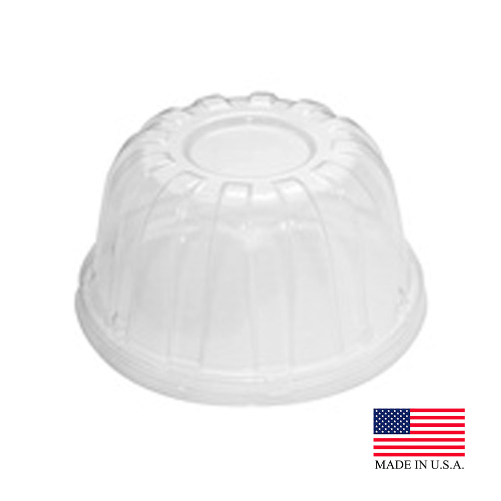 Dart - Clear 6-14 oz. Plastic High Dome Lid 12HDLC
