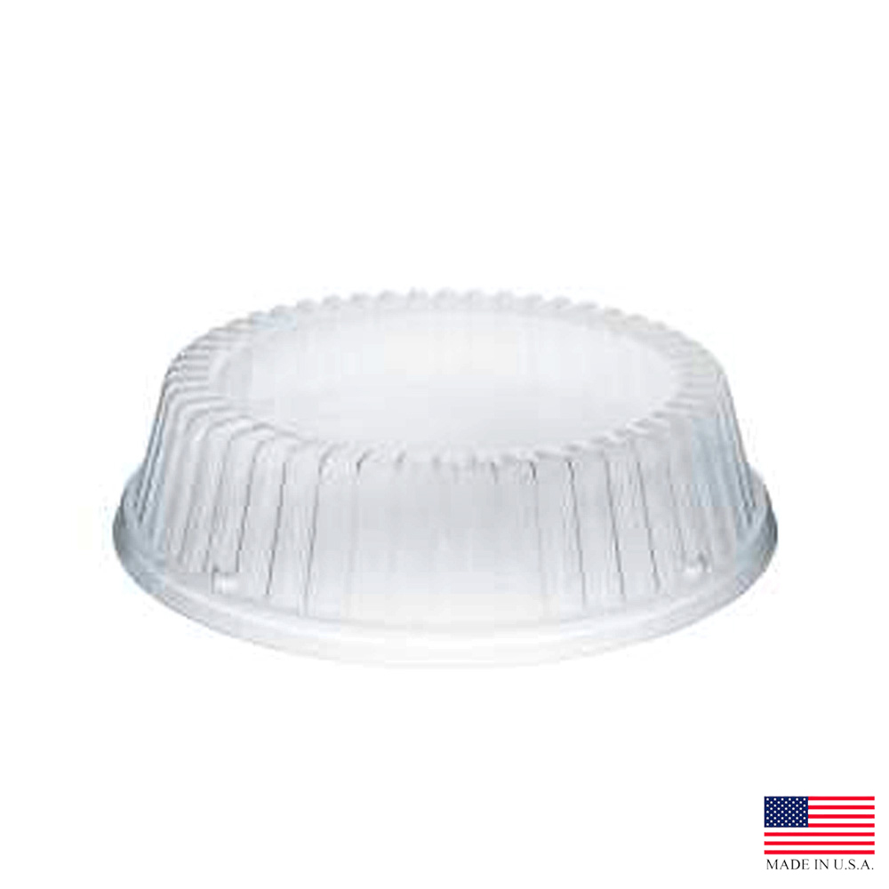 "Dart - Clear 9"" Round Plastic Dinnerware Dome Lid CL9P"