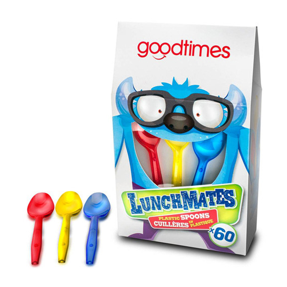 GoodTimes Brand Inc. - Lunchmates Assorted 60     piece Plastic Spoon GT002