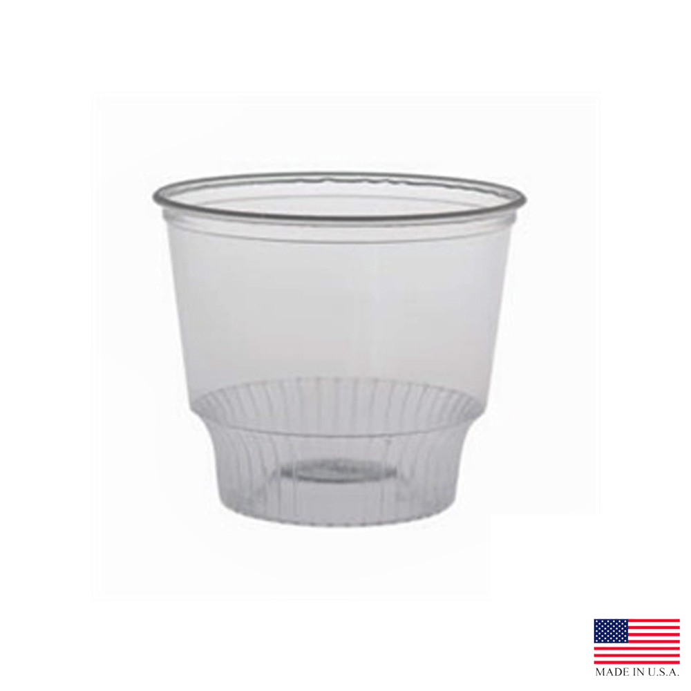 Solo Cup Co. - SoloServe Clear 12 oz. Poly Round  Plastic Sundae Cup SD12
