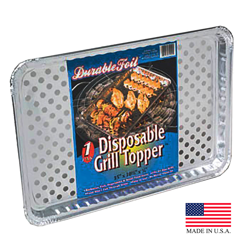 "Durable Aluminum 15""x10 3/8""x3/4"" Grill Topper W72120"