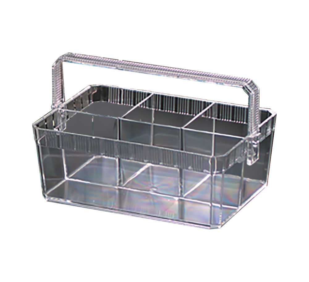 Novelty Crystal Clear Cutlery Contemporary Caddy  With Handle 3100GB