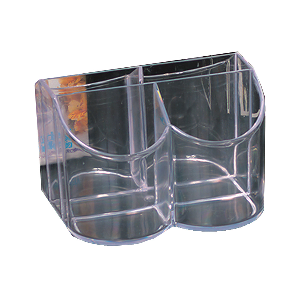 Novelty Crystal Clear Contemporary Cutlery &      Napkins Caddy 3150
