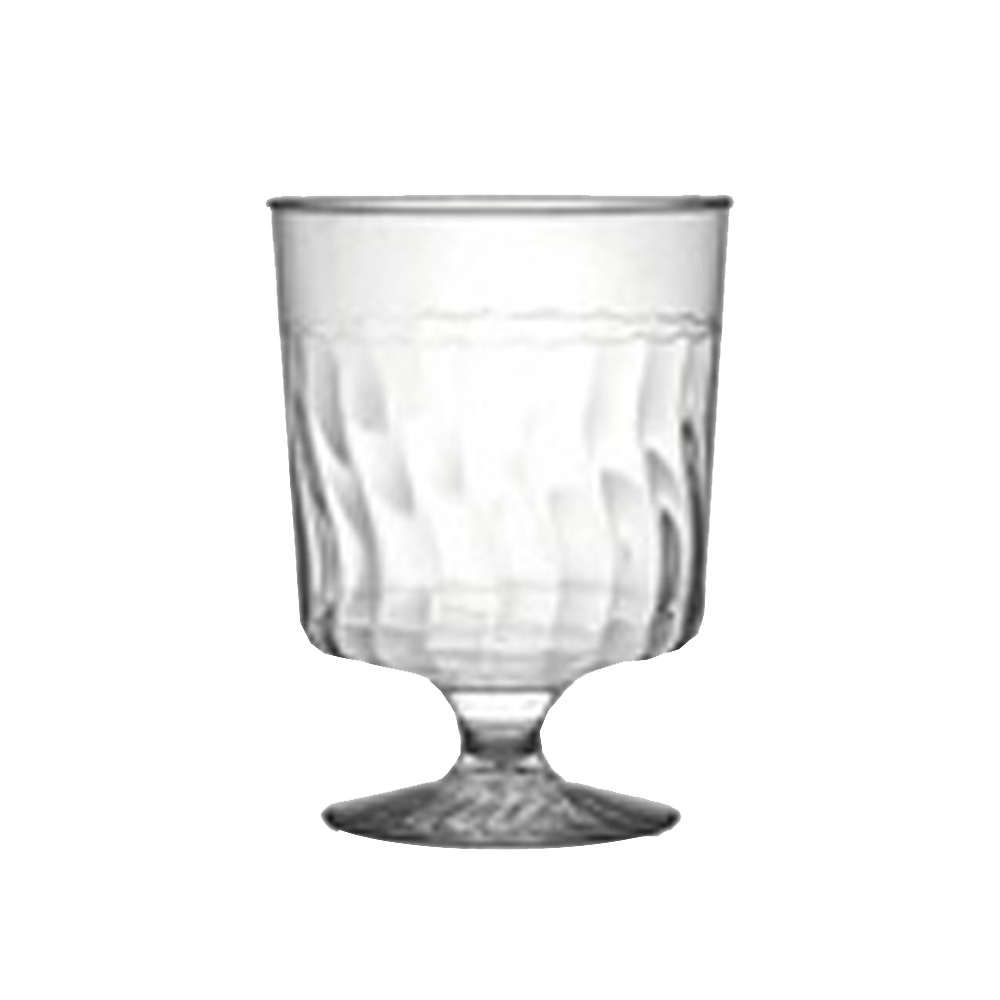 Fineline Settings - Flairware Clear 5.5 oz. 1 Piece Plastic Wine Glass 2205