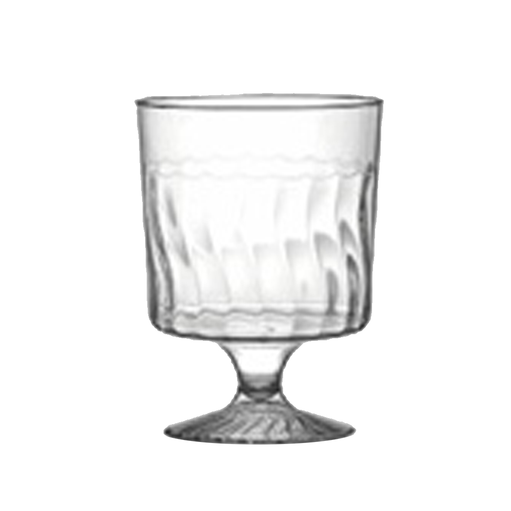 Fineline Settings - Flairware Clear 8 oz. 1 Piece Plastic Wine Glass 2208