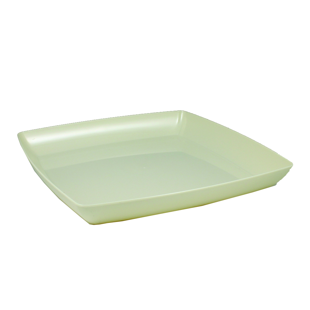 "Maryland Plastics Beige 12"" Simply Squared Tray SQ12127"
