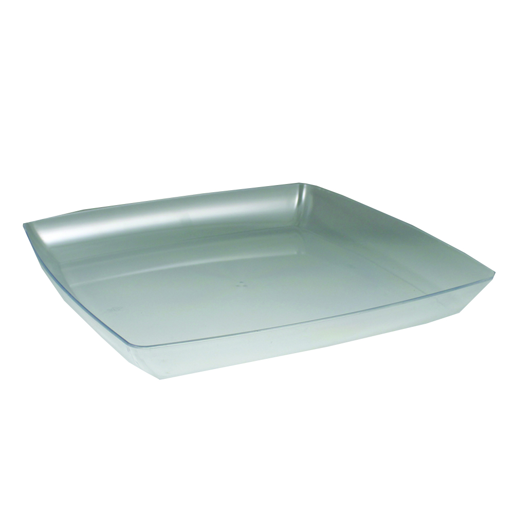"Maryland Plastics Clear 12"" Simply Squared Tray   SQ12126"