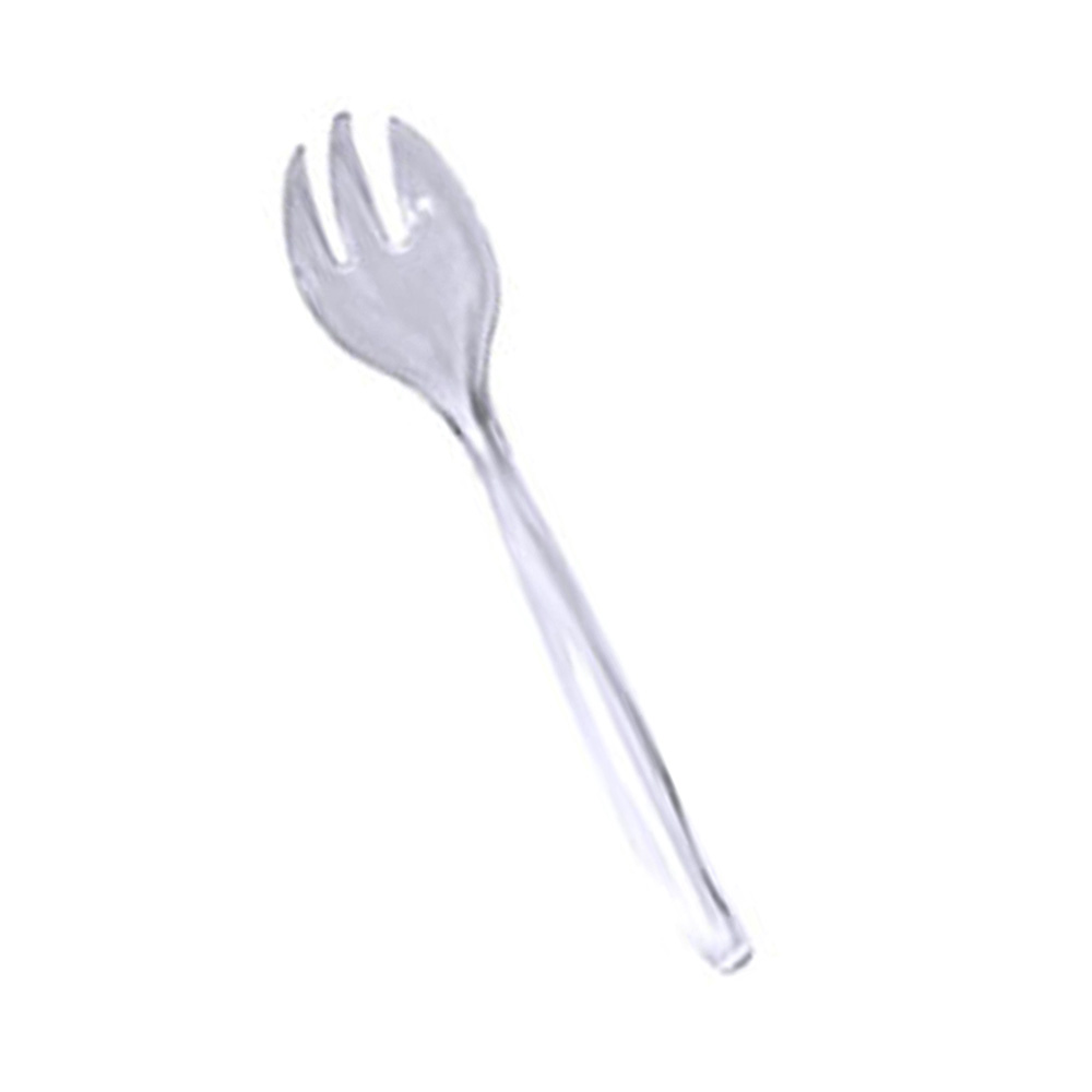 "Maryland Plastics Inc. - Swirls Clear 10"" Plastic Serving Forks MPI00736"