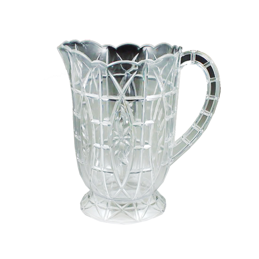 Maryland Plastics Clear 64oz Crystalware Crystal  Cut Pitcher MPI0915