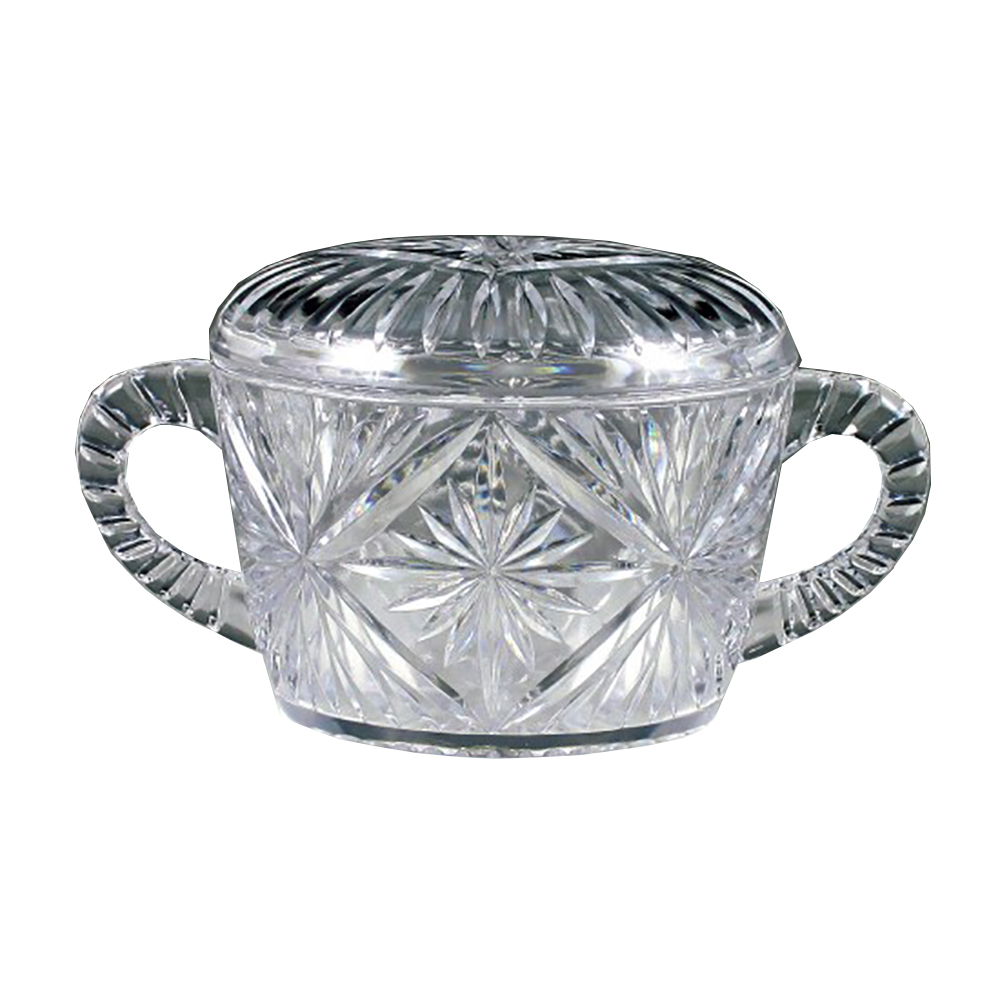 Maryland Plastics Inc. - Crystalware Clear Plastic Sugar Bowl MPI0056
