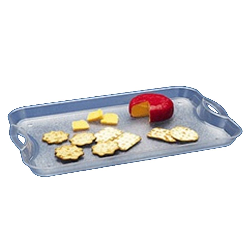 "Maryland Plastics Inc. - Crystalware Clear 19""x11"" Rectangular Plastic Tray With Handle MPI1"