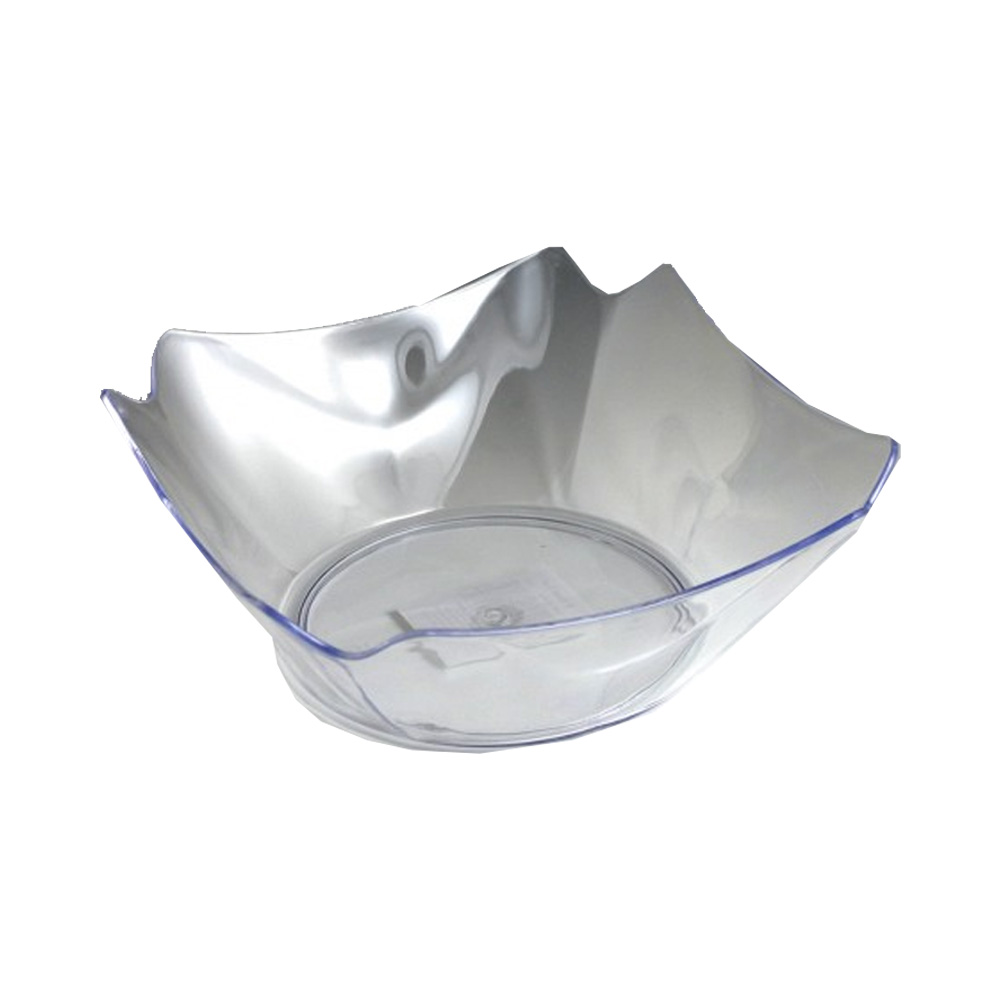"Maryland Plastics Inc. - Crystalware Clear 12"" Plastic Flower Bowl MPI13126"
