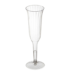 Comet Clear 5oz Crystal Clear 2pc Plastic Champagne Glass BPCCC55