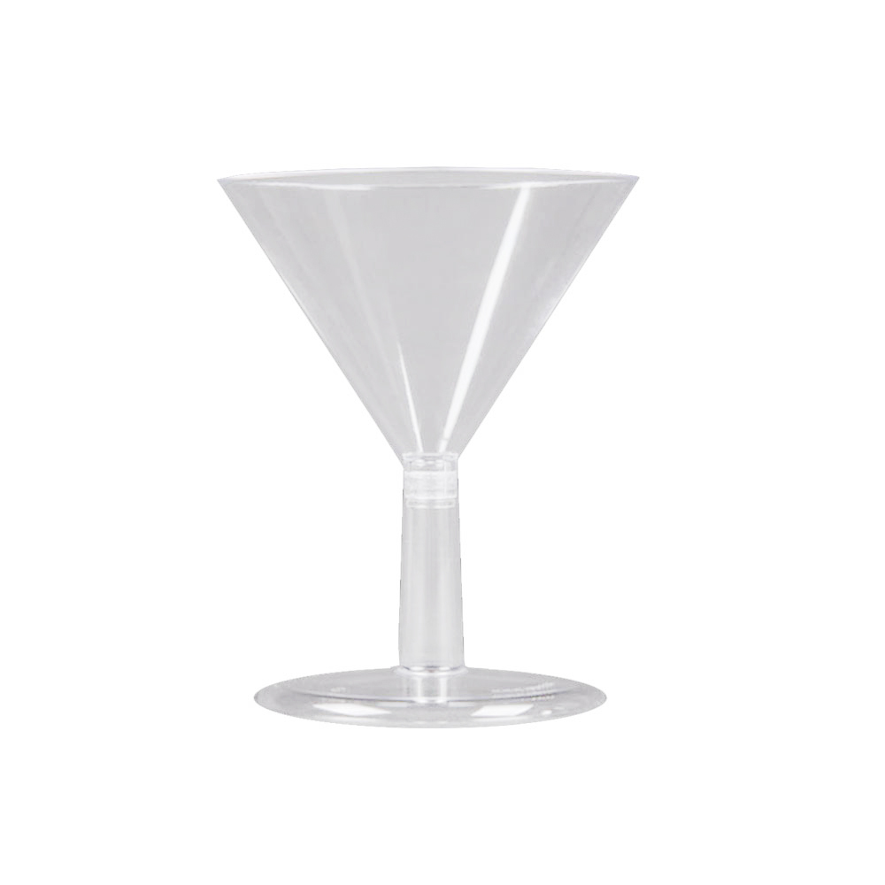 Comet Clear 2oz Petites Martini Plastic Glass APTMT2