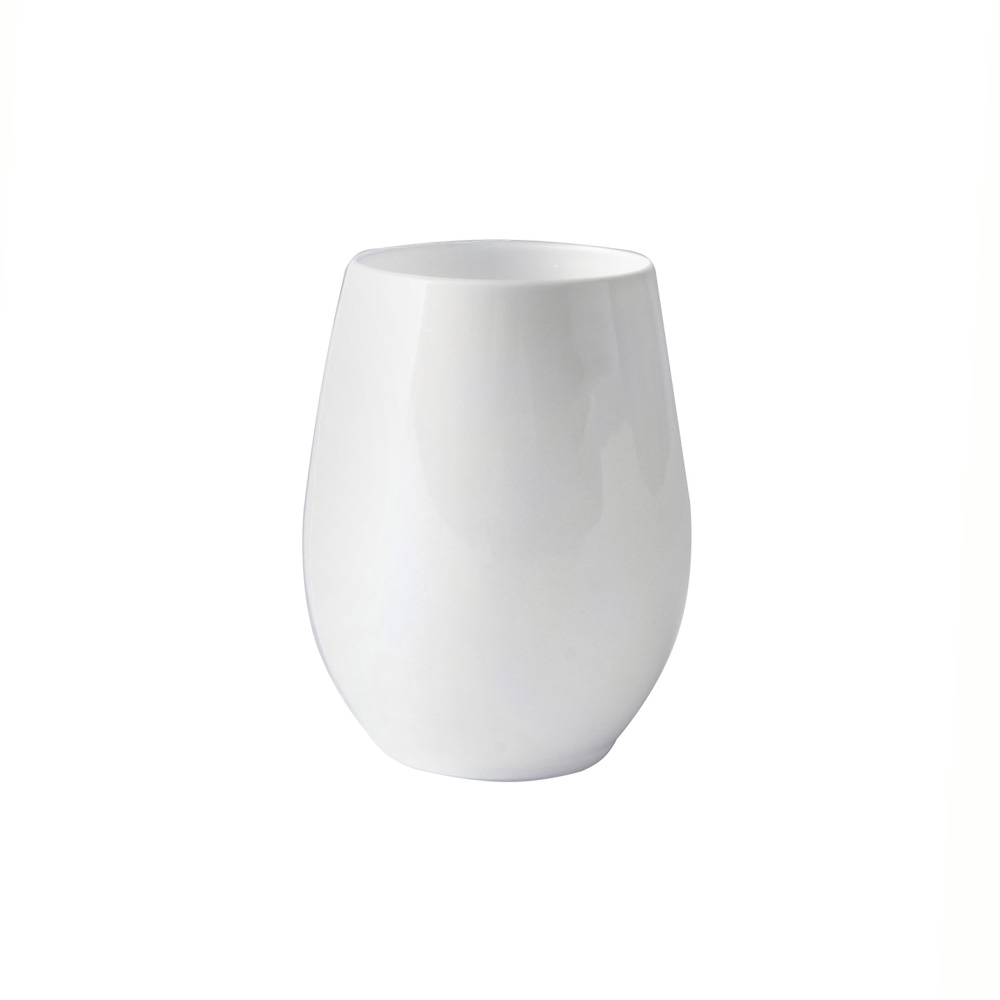 Fineline Settings White 12oz Plastic Stemless Goblet 2722-WH