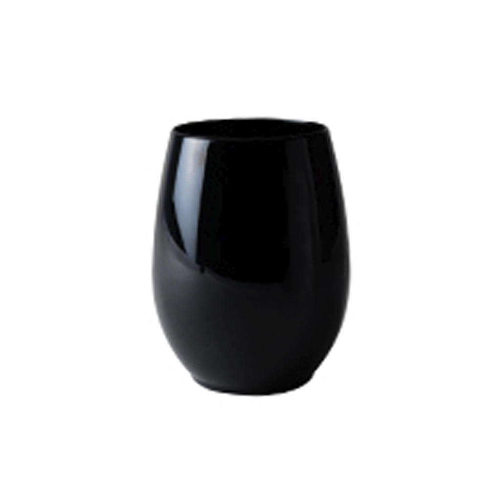 Fineline Settings Black 12oz Plastic Stemless Goblet 2722-BK