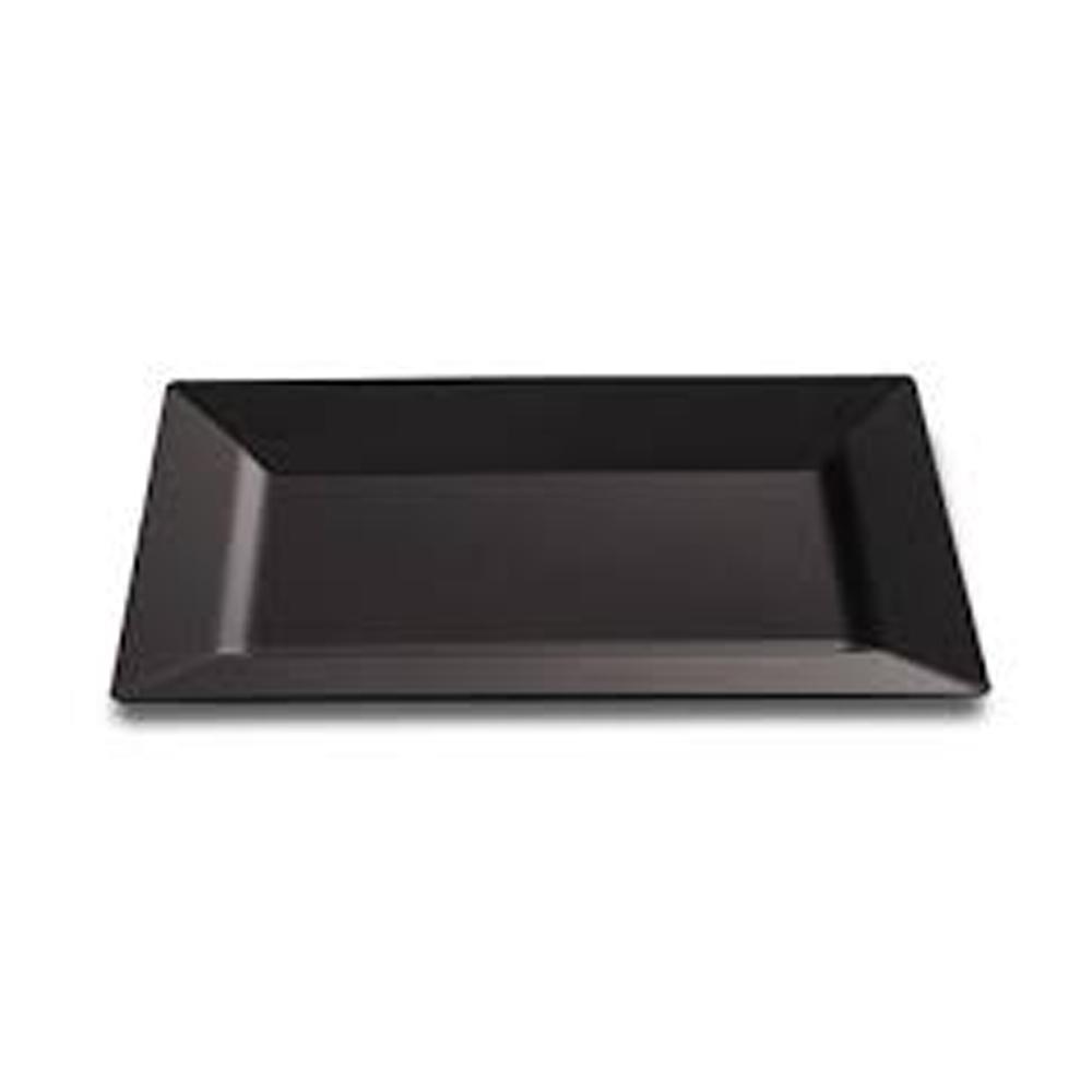 EMI Yoshi Black 11  Rectangular Plate EMI-RP11B  sc 1 st  Wholesale Distributor of Food service Sanitary Janitorial and ... & Plates - Plastic - Wholesale Distributor of Food service Sanitary ...