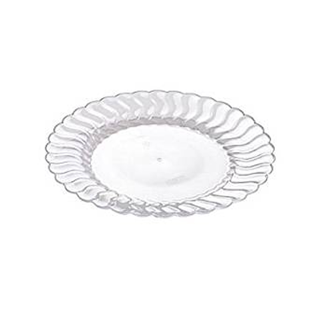 "Fineline Settings - Flairware Clear 9"" Plastic Dinner Plate 209-CL"