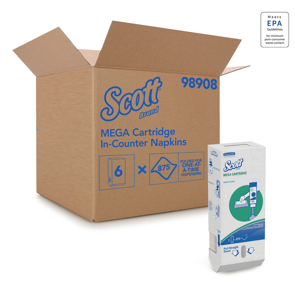 Kimberly Clark Scott Mega Cartridge Napkin Box 98908